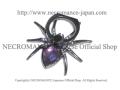 【ネクロマンス NECROMANCE】 スパイダー スマホリング <パープル/Purple/紫> Spider Phone Ring 蜘蛛