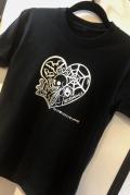 【チャリティー企画商品】【ネクロマンス NECROMANCE】 ラブポーション Tシャツ <黒> Love Potion T-Shirt 骸骨 蝙蝠 目玉 蜘蛛 蜘蛛の巣 フラスコ