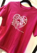 【チャリティー企画商品】【ネクロマンス NECROMANCE】  ラブポーション Tシャツ<桃色> Love Potion T-Shirt 骸骨 蝙蝠 目玉 蜘蛛 蜘蛛の巣 フラスコ
