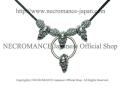 【ネクロマンス NECROMANCE】 スクリーミングスカルネックレス (ショート) Skull Necklace <Screaming Skull> 骸骨