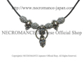 【ネクロマンス NECROMANCE】 NEWスカルネックレス (ショート) Skull Necklace <New Skull> 骸骨