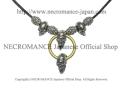 【ネクロマンス NECROMANCE】 ブラススカルネックレス (ショート) Brass Skull Necklace <Brass Hoop Skull> 骸骨