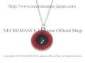 【ネクロマンス NECROMANCE】 シルバークラウン義眼ネックレス Silver Crown Glass Eye Necklace <レッド/Red/赤>目玉 王冠