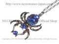 【ネクロマンス NECROMANCE】 ドロップブルースパイダーネックレス Drop Blue Spider Necklace <ブルー/Blue/青> 蜘蛛