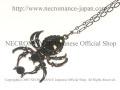 【ネクロマンス NECROMANCE】 ドロップブラックスパイダーネックレス Drop Black Spider Necklace <ブラック/Black/黒> 蜘蛛