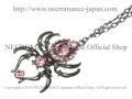 【ネクロマンス NECROMANCE】 ドロップピンクスパイダーネックレス Drop Pink Spider Necklace <ピンク/Pink/桃色> 蜘蛛