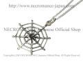 【ネクロマンス NECROMANCE】 スパイダーウェブネックレス Silver Spider Web Necklace 蜘蛛の巣 シルバー