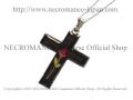 【ネクロマンス NECROMANCE】 ミニローズクロスネックレス Mini Rose Cross Necklace 薔薇 十字架