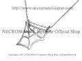 【ネクロマンス NECROMANCE】 シルバータイニースパイダーウェブネックレス Silver Tiny Spider Web Necklace 蜘蛛の巣 シルバー