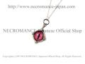 【ネクロマンス NECROMANCE】 シルバー義眼ネックレス Silver Glass Eye Necklace <ピンク/Pink/桃色> 目玉 悪魔 ドラゴン Dragon 龍