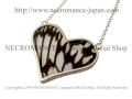 【ネクロマンス NECROMANCE】【数量限定】シルバーラージハート リアルバタフライウィングネックレス Silver Large Heart Real Butterfly Wing Necklace <オオゴマダラ> 蝶々 羽