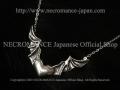 【ネクロマンス NECROMANCE】 シルバーヴァンパイアハートネックレス Silver Vampire Heart Necklace コウモリ 蝙蝠 吸血鬼