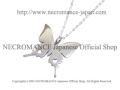 【ネクロマンス NECROMANCE】 シルバーバタフライハートネックレス Silver Butterfly Heart Necklace 蝶々 シルバー