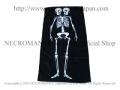 【ネクロマンス NECROMANCE】【数量 限定販売】ツインズスケルトンバスタオル Twins Skeleton Bath Towel 骸骨 スカル