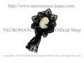 【ネクロマンス NECROMANCE】 ブラックレースカメオブローチ Black Lace Cameo Brooch 喪章 葬儀