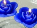 【ネクロマンス NECROMANCE】 フローティング ローズキャンドル Floating Rose Candle <ブルー/Blue/青> 青薔薇  青バラ ブルーローズ 蝋燭