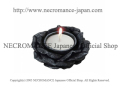 【ネクロマンス NECROMANCE】 ブラックローズキャンドルホルダー Blak Rose Candle Holder 黒薔薇 バラ 蝋燭