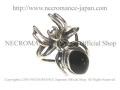 【ネクロマンス NECROMANCE】 オニキススパイダーポイズンリング Onyx Spider Poison Ring 蜘蛛 毒 シルバー