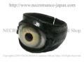 【ネクロマンス NECROMANCE】 レザー義眼リング Leather Eye Ring <グリーン/Green/緑> 目玉 革