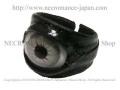 【ネクロマンス NECROMANCE】 レザー義眼リング Leather Eye Ring <グレー/Gray/灰色> 目玉 革