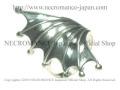 【ネクロマンス NECROMANCE】 バットウィングリング Bat Wing Ring 蝙蝠 コウモリ シルバー 羽