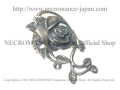 【ネクロマンス NECROMANCE】 ローズヴァインリング Silver Rose Vine Ring 薔薇 蔓 指輪