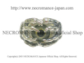 【ネクロマンス NECROMANCE】ボーンハンド義眼リング Bone Hand Glass Eye Ring <グリーン/Green/緑>目玉 骸骨