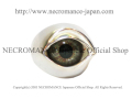 【ネクロマンス NECROMANCE】【数量限定】 シルバーNEW義眼リング Silver New Eye Ring <ヘーゼル/Hazel/茶色> 目玉
