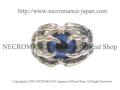 【ネクロマンス NECROMANCE】ボーンハンド義眼リング Bone Hand Glass Eye Ring <ブライトブルー/Bright Blue/青>目玉 骸骨