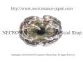 【ネクロマンス NECROMANCE】シルバーボーンハンド義眼リング Silver Bone Hand Glass Eye Ring <グリーンブライト/Green Bright>目玉 骸骨