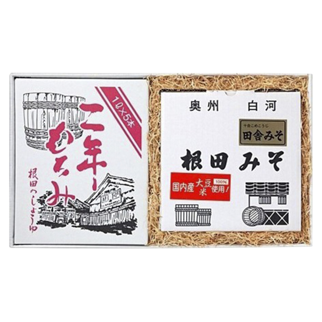 味噌と醤油の詰合せ 田舎みそ1kg×4個、二年もろみ醤油1L×5本(W008)