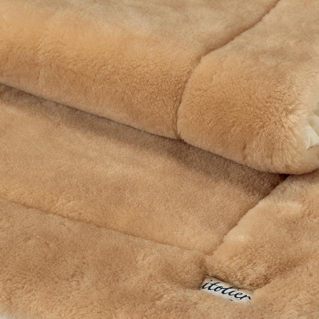 洗えるロングパイルウール敷きパッド 日本製 itolier 西川 IT5570