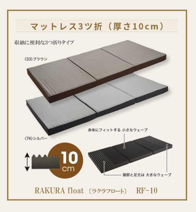 【西川】 RAKURA float ラクラフロート三つ折りマットレス RF-10