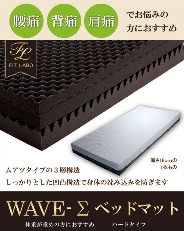 【FIT LABO】オリジナル WAVE Σ(ハード)マットレス 西川 ベッドマットレスタイプ