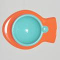 猫用食器オレンジブルー魚型