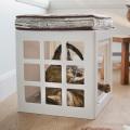 キャットタワーハウス キューブと猫