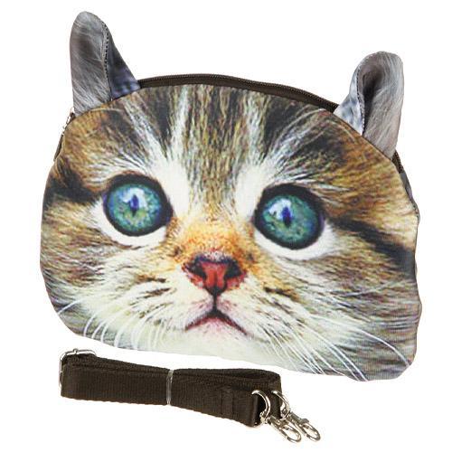 猫顔ポシェット