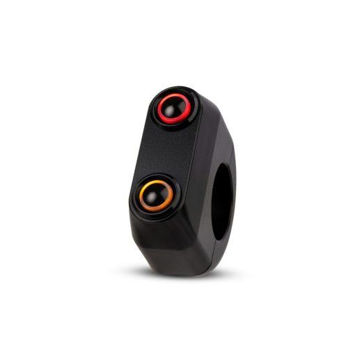 rebelmoto LEDスイッチ 2 ボタン ブラック