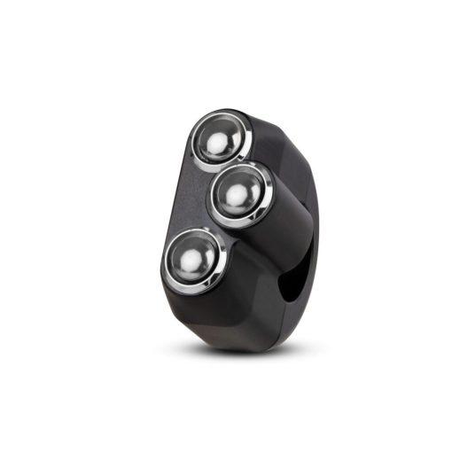 rebelmoto LEDスイッチ 3ボタン ブラック