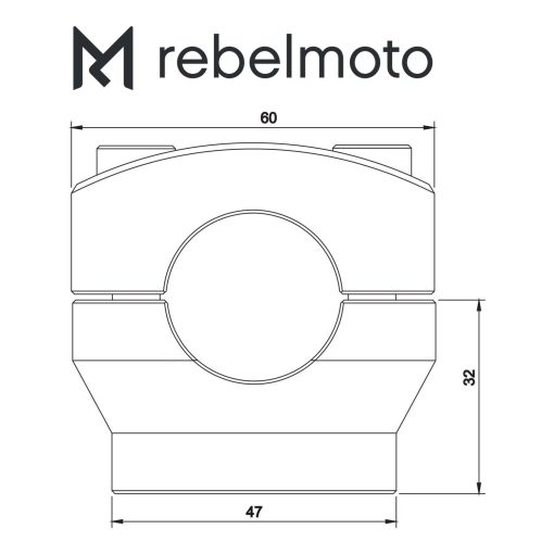 rebelmoto ライザー28.6mm