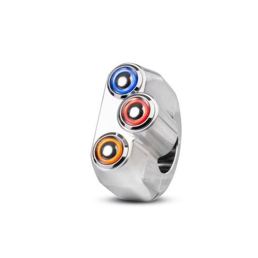 rebelmoto LEDスイッチ 3 ボタン ポリッシュ