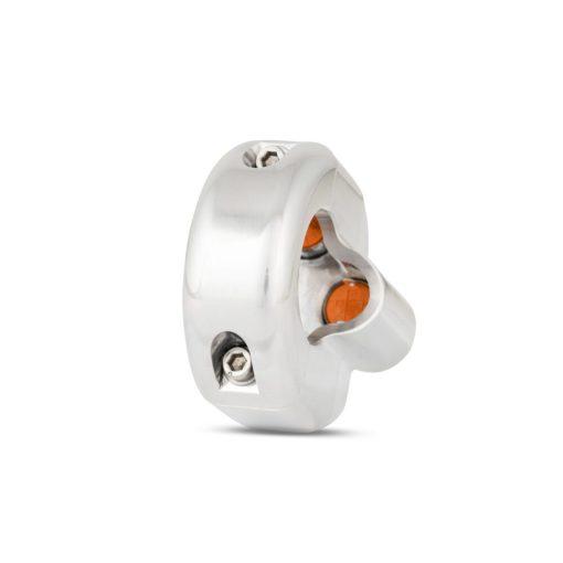rebelmoto LEDスイッチ 3ボタン ポリッシュ
