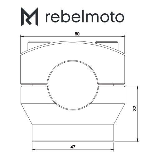 rebelmoto ライザー1inch