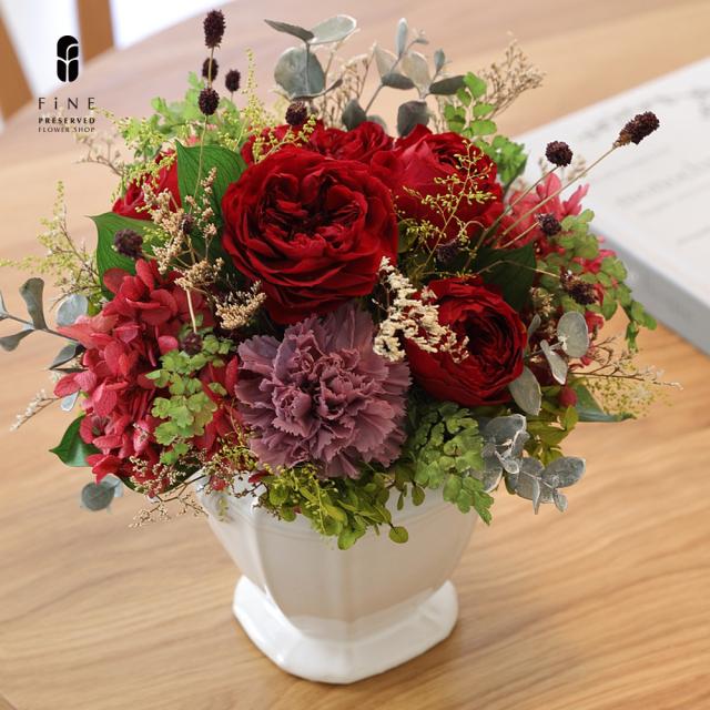 カリーナ|プリザーブドフラワー/結婚祝い/還暦祝い/ウェディング/プロポーズ/花束/バラ【有料バッグ:L対応】