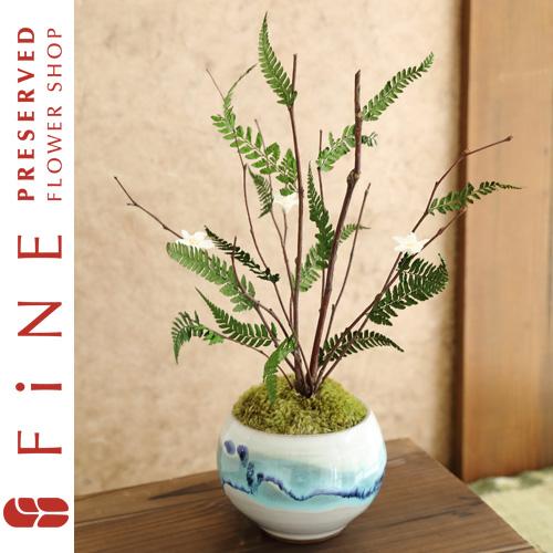 風雅(ふうが)|プリザーブドフラワー/インテリアグリーン/枯れない観葉植物/和風【有料バッグ:L対応】