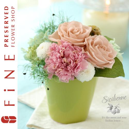 シチリエンヌ|プリザーブドフラワー/枯れないお花/お誕生日/結婚祝い【有料バッグ:ギフトバッグM対応】
