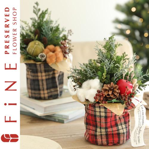 プリザーブドフラワー/アレンジメント/クリスマスツリー/ブリティッシュ・ツリー/ギフト/プレゼント/インテリア