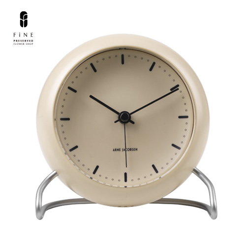 置き時計/時計/北欧/ヤコブセン/ARNE/JACOBSEN/TABLE/CLOCK/CITY/HALL/SANDY/BEIGE/インテリア