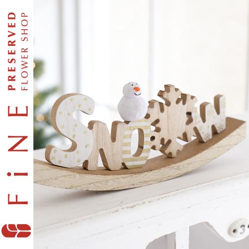 スノークレードルサイン/クリスマス雑貨/インテリア/サイン/ウッドインテリア/スノーマン/雪だるま/北欧/店舗装飾