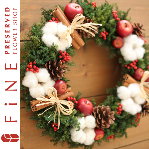 クリスマスリース(X対象)|クリスマス/ギフト/玄関リース/クリスマスプレゼント/クリスマスリース/店舗ディスプレイ【有料バッグ:リースL対応】